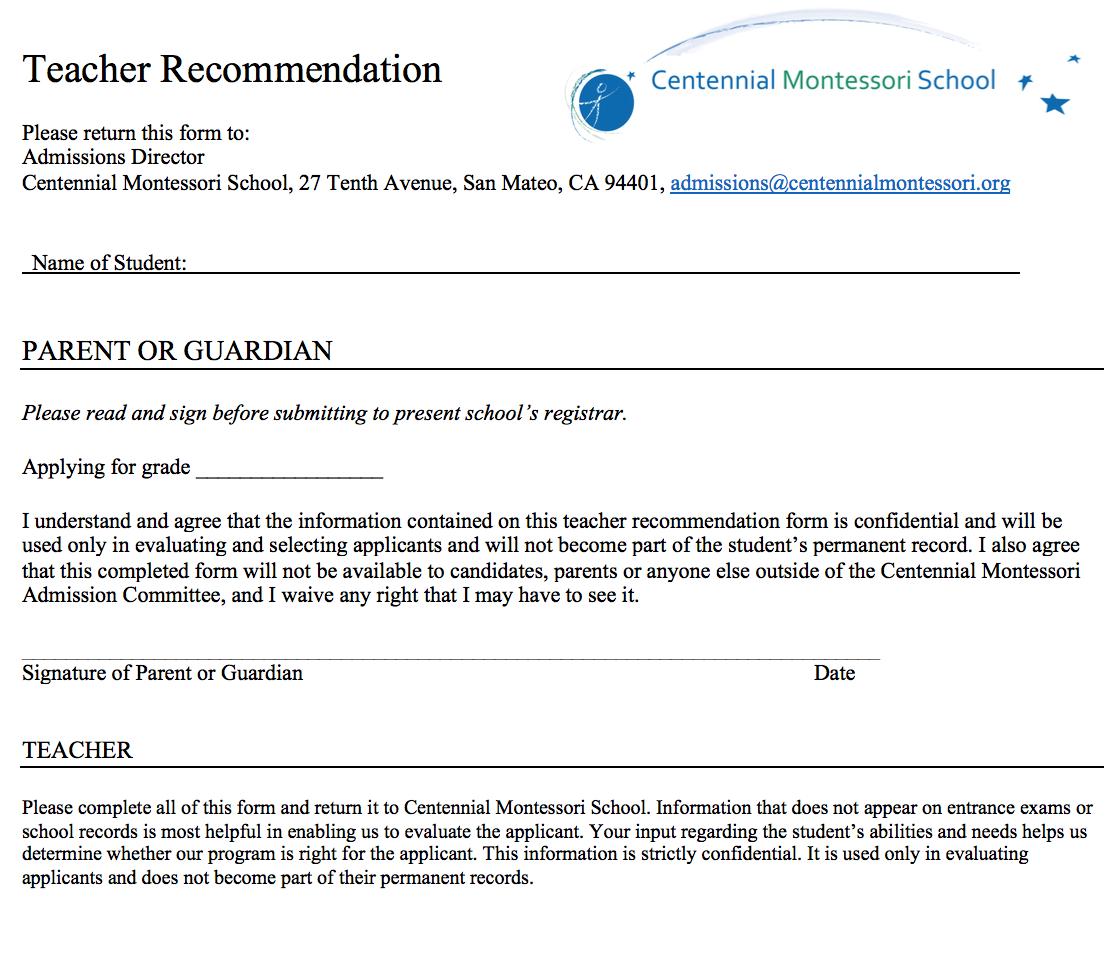 Centennial Montessori School - Admissions for preschool and